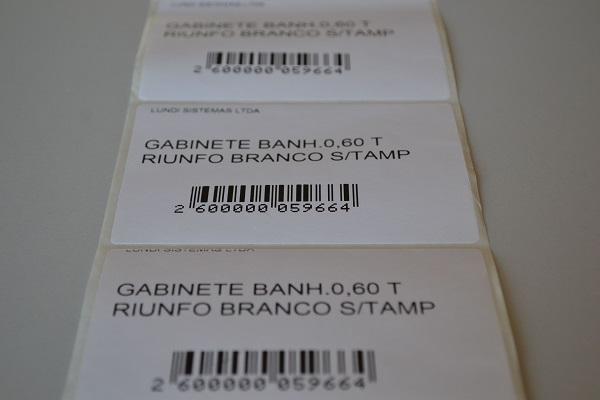 Etiqueta usada em balanças e em São Paulo (obrigatório haver dados de fabricante, etc, por norma do procon) 480 unidades num rolo de 35m