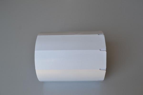 Etiqueta sem adesivo no papel CARTÃO 170grs, fluorescente verde cítrico, sem impressão e cantos arredondados.   Medida 110 mm X 030 mm - 01 coluna, rolos de 35 mts com 1.167  etiquetas.