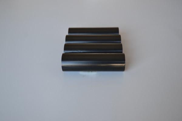 """110mm x 74m G42 out(1/2"""")   Como um rolo de etiquetas tem aproximadamente 35m, este ribbon dá para 2 rolos de etiquetas. Serve tanto para impressora Argox, como para Zebra.  Ribbon com 90m não serve para a zebra, pois é mais grosso por ter 90m."""